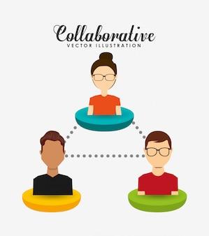 Ilustración de concepto colaborativo