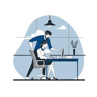 Ilustración de concepto compañeros de trabajo