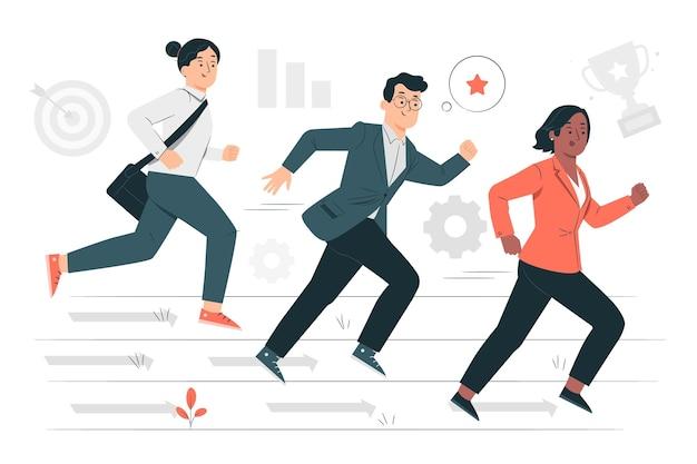 Ilustración de concepto de competencia empresarial