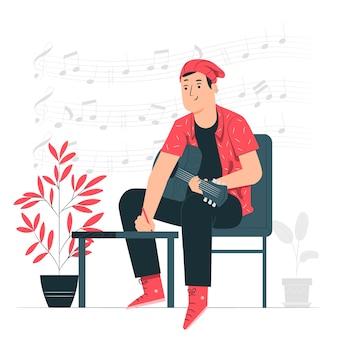 Ilustración del concepto de componer música
