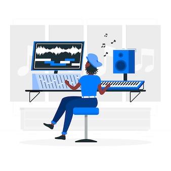 Ilustración del concepto de compositor