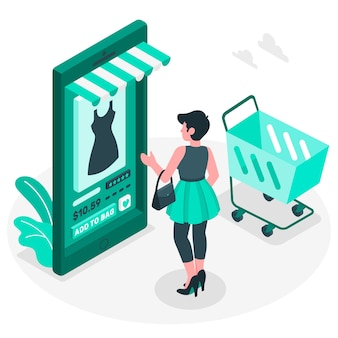 Ilustración del concepto de compra online