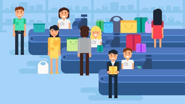 Ilustración del concepto de compras