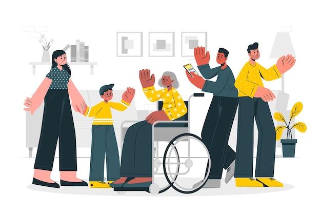 Ilustración del concepto de comunidad
