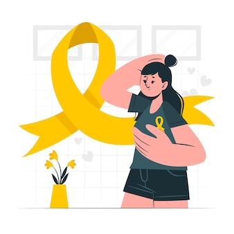 Ilustración de concepto de conciencia de cáncer de mama