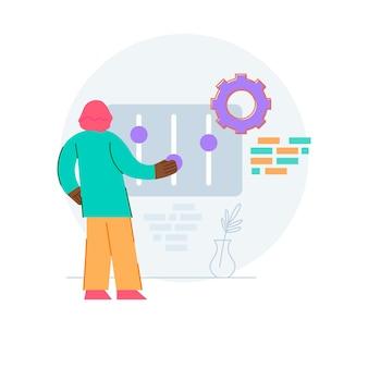 Ilustración del concepto de configuración