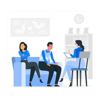 Ilustración de concepto de consejería matrimonial