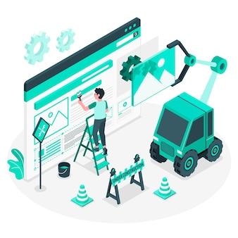 Ilustración del concepto de en construcción
