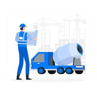 Ilustración del concepto de construcción