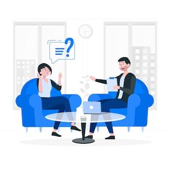 Ilustración del concepto de consultoría