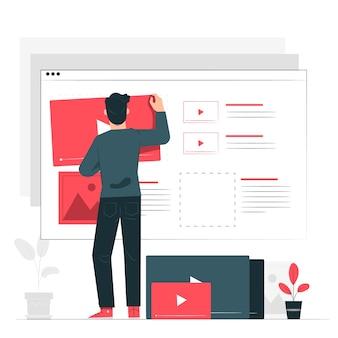 Ilustración del concepto de contenido