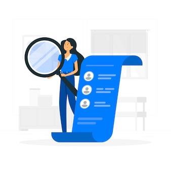 Ilustración de concepto de contratación