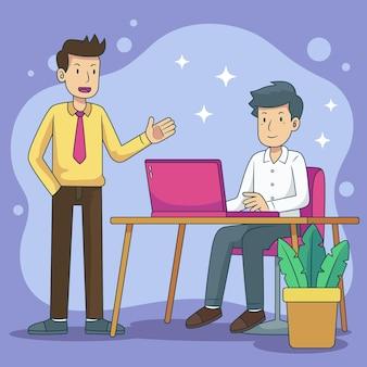 Ilustración del concepto de contratación