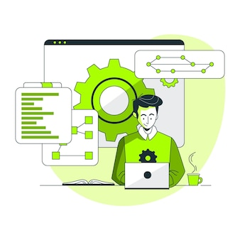 Ilustración del concepto de control de versiones