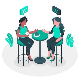 Ilustración del concepto de conversación