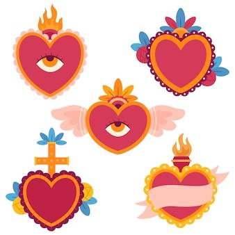 Ilustración del concepto de corazón sagrado