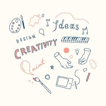 Ilustración del concepto de creatividad e innovación.