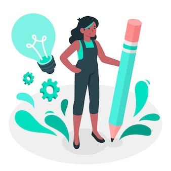 Ilustración del concepto creatividad
