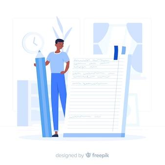 Ilustración del concepto de cuaderno