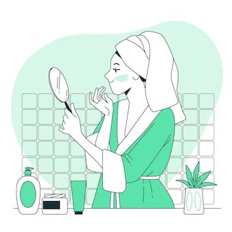 Ilustración del concepto de cuidado de la piel