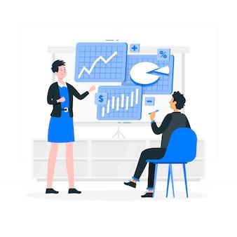 Ilustración del concepto de datos financieros