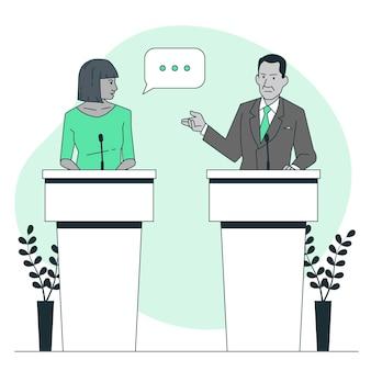 Ilustración del concepto de debate político