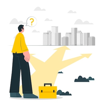 Ilustración del concepto de decisiones comerciales