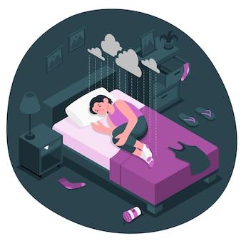 Ilustración del concepto de depresión