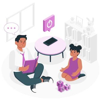 Ilustración del concepto de desconexión