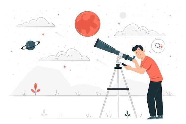 Ilustración del concepto de descubrimiento
