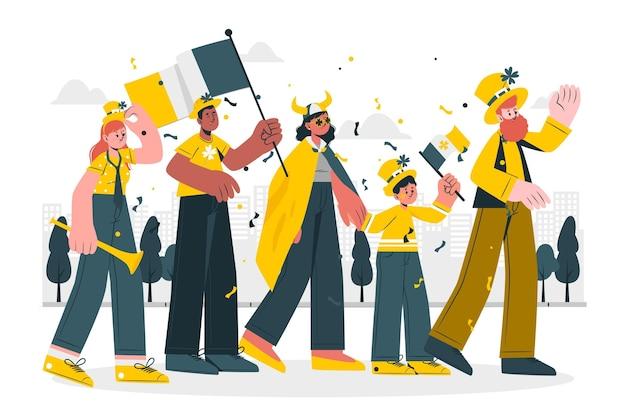 Ilustración del concepto del desfile del día de san patricio