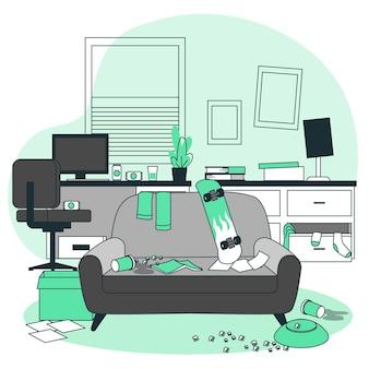 Ilustración del concepto de desorden