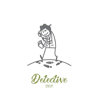 Ilustración del concepto de detective
