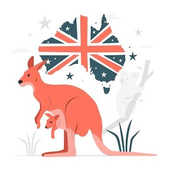 Ilustración del concepto de día de australia