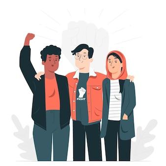 Ilustración del concepto del día de los derechos humanos