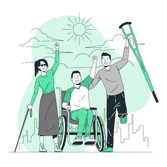 Ilustración de concepto de día de discapacitados