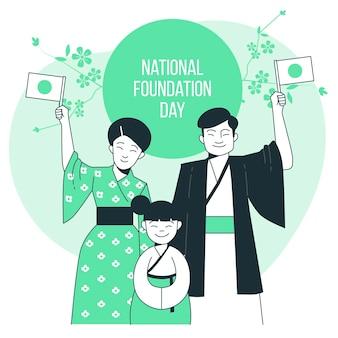 Ilustración del concepto del día de la fundación nacional
