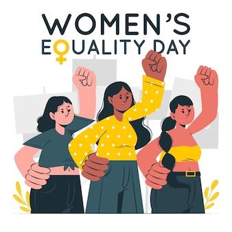 Ilustración del concepto del día de la igualdad de la mujer