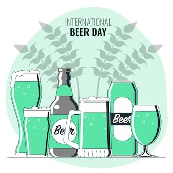 Ilustración del concepto del día internacional de la cerveza