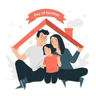 Ilustración del concepto del día internacional de las familias
