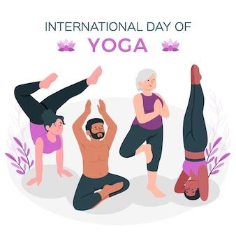 Ilustración del concepto de día internacional de yoga