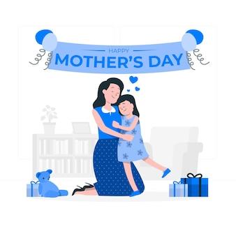 Ilustración del concepto del día de la madre
