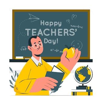 Ilustración del concepto del día del maestro