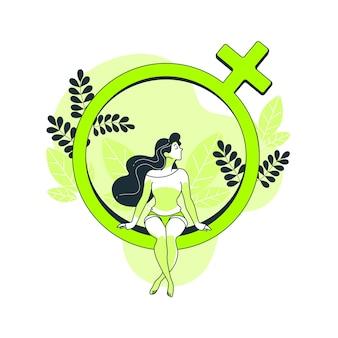 Ilustración de concepto el día de la mujer