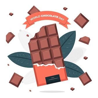 Ilustración del concepto del día mundial del chocolate