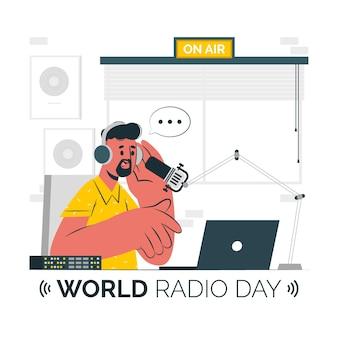 Ilustración del concepto del día mundial de la radio