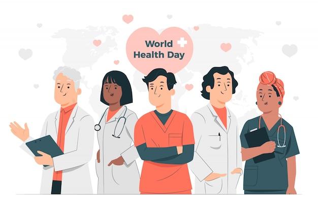 Ilustración del concepto del día mundial de la salud