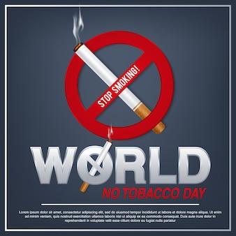 Ilustración del concepto día de no fumadores, 31 de mayo