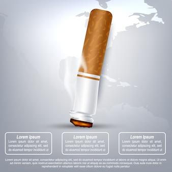 Ilustración del concepto de día de no fumadores