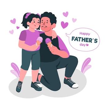 Ilustración del concepto del día del padre